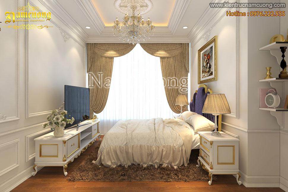 Thiết kế nội thất phòng ngủ tân cổ điển tại Sài Gòn - NTNTCD 023