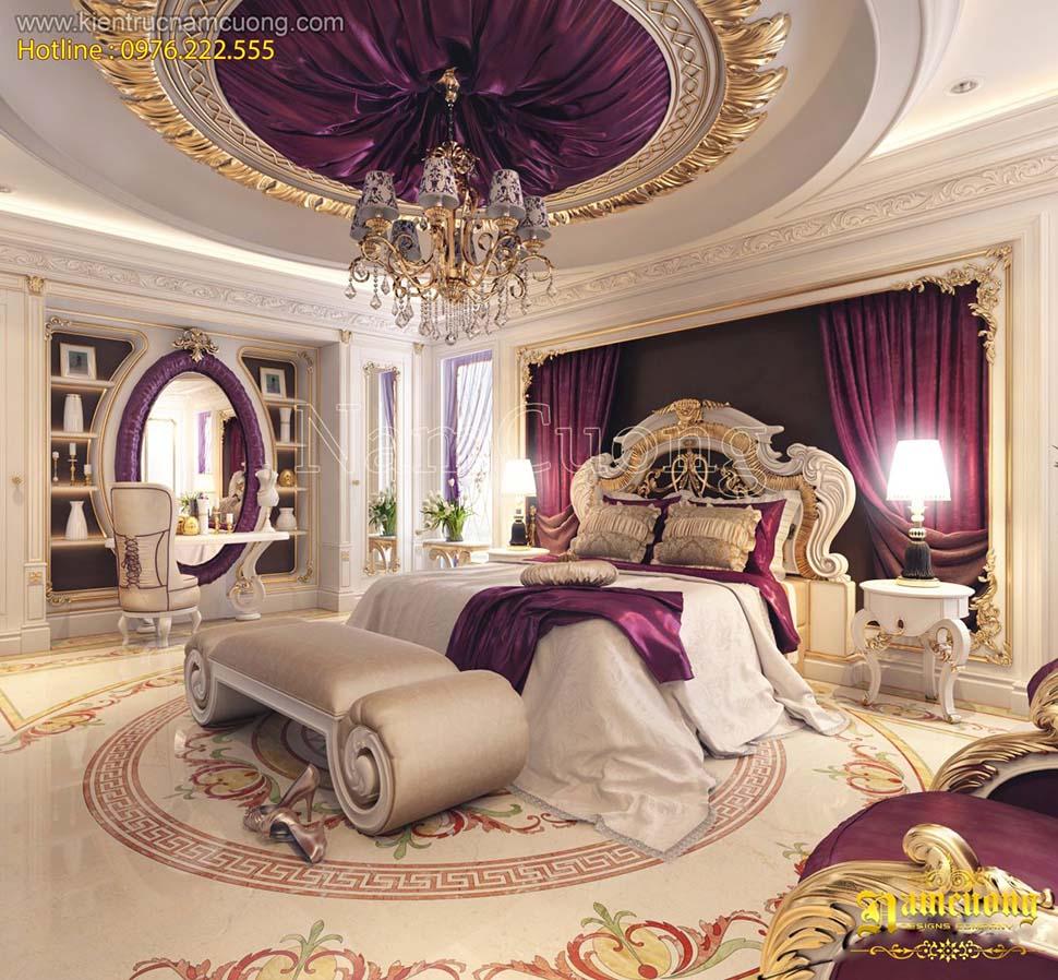 Mẫu phòng ngủ đẹp phong cách cổ điển Pháp tại Sài Gòn - NTPNP 040