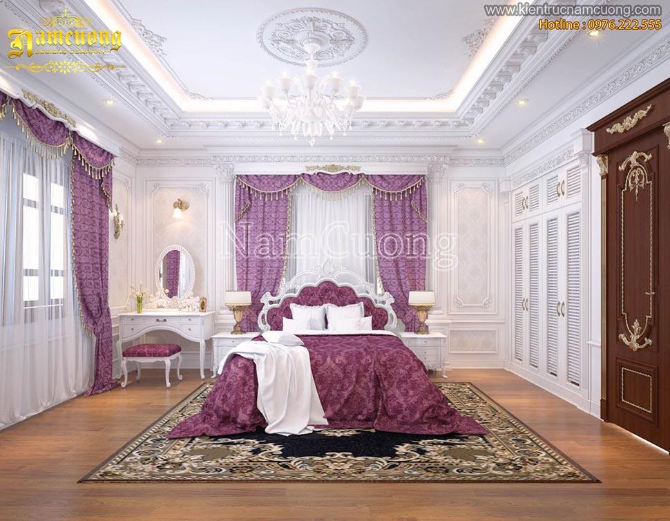 Thiết kế nội thất phòng ngủ Pháp tại Sài Gòn - NTNP 011
