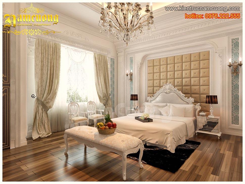 Thiết kế nội thất phòng ngủ tân cổ điển đẹp tại Quảng Ninh - NTNTCD 033