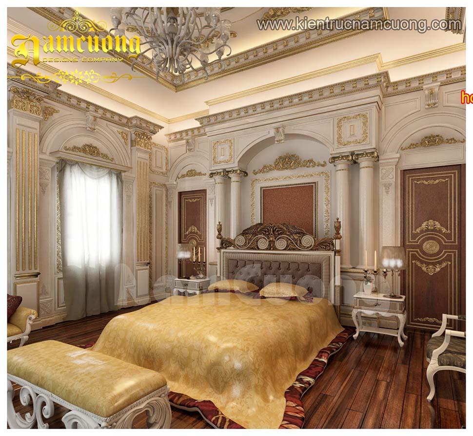 Mẫu nội thất phòng ngủ màu vàng cổ điển đẹp tại Hải Phòng - NTPNV 001