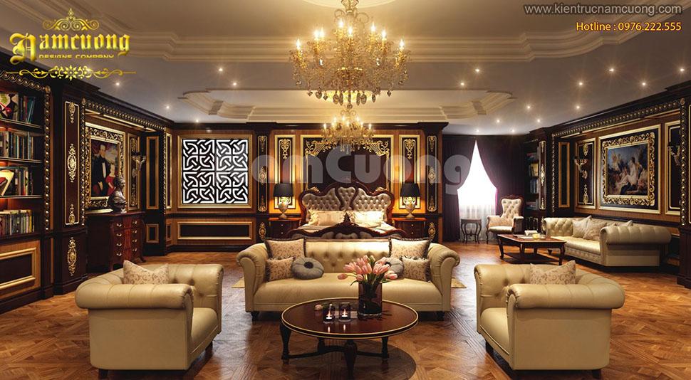 Những mẫu thiết kế nội thất phòng khách Pháp tại Sài Gòn ấn tượng - NTKP 020