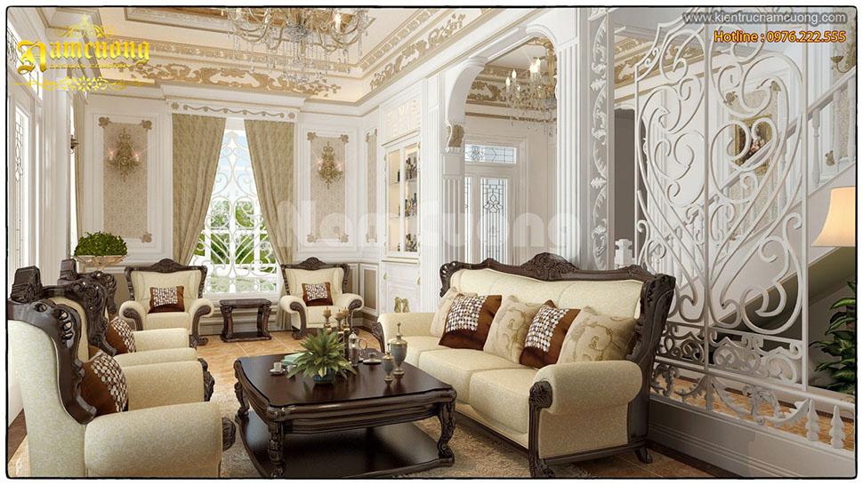 Thiết kế nội thất phòng khách Pháp tại Hải Phòng - NTKP 003