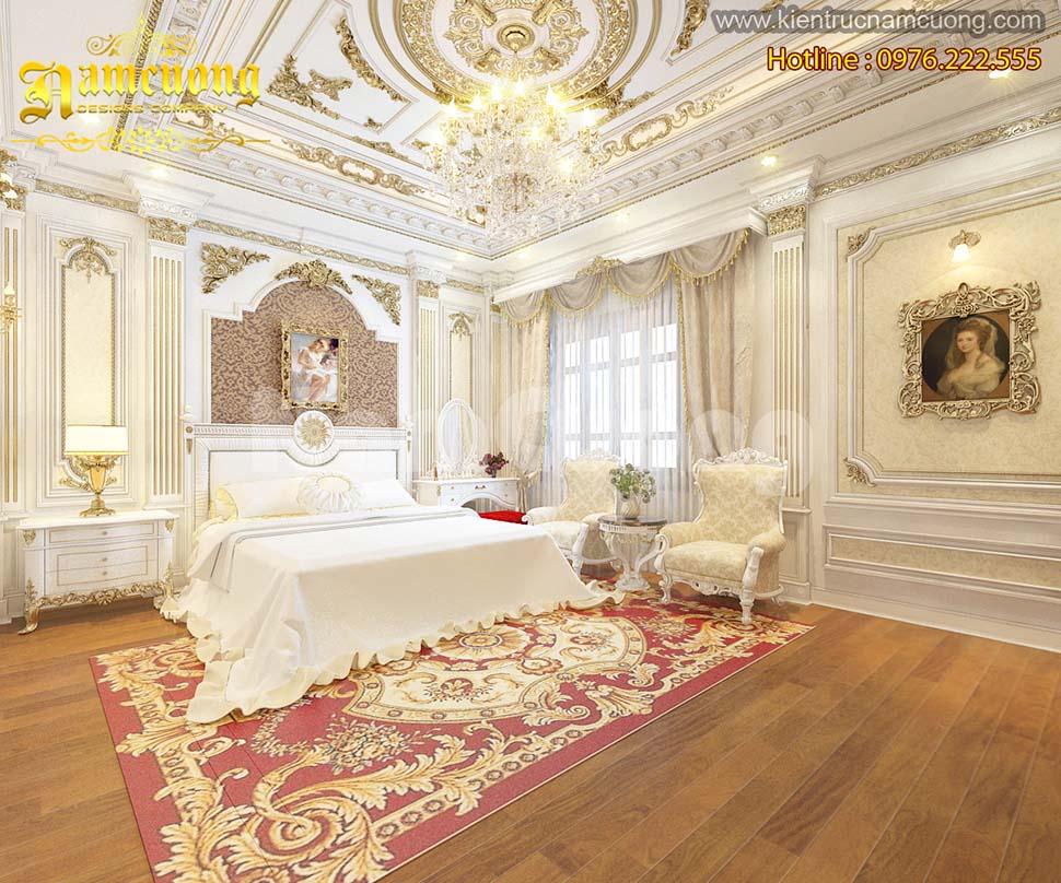 Những mẫu thiết kế nội thất phòng ngủ kiểu Pháp tại Hải Phòng  - NTNP 003
