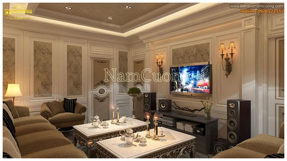 Mẫu nội thất phòng karaoke biệt thự cổ điển tại Quảng Ninh - PKTCD 003