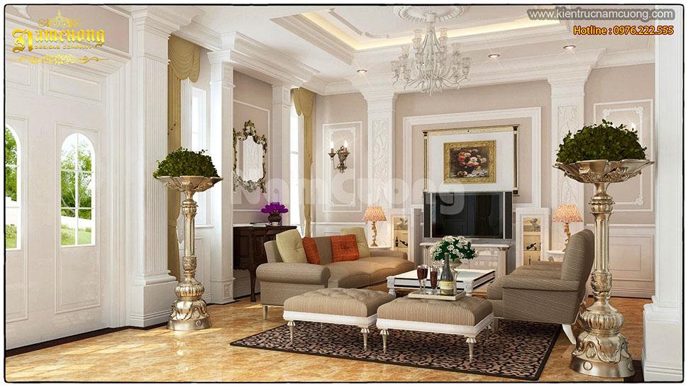 Thiết kế phòng khách nội thất tân cổ điển tại Hải Phòng - NTPKCD 003