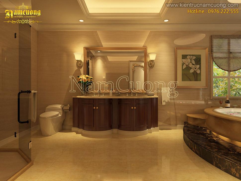 Ấn tượng với những mẫu phòng WC đẹp cho biệt thự tân cổ điển