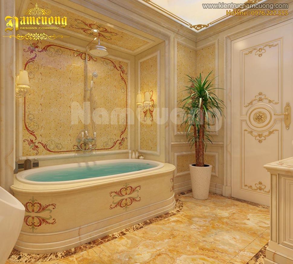 Mẫu thiết kế nội thất phòng WC cho biệt thự kiến trúc Pháp - WCP 001