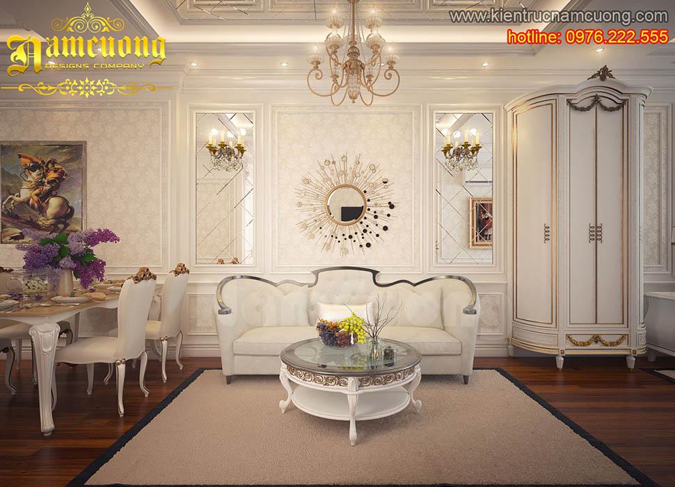 Thiết kế nội thất căn hộ chung cư tân cổ điển tại Sài Gòn - CCCD 001