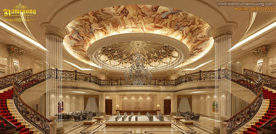Những mẫu thiết kế sảnh hoành tráng phong cách cổ điển Pháp - NTKSCD 011
