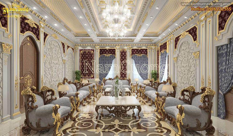 Những mẫu nội thất phòng khách đẹp cho biệt thự cổ điển - NTPKCD 061
