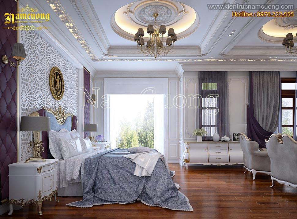 Mẫu nội thất phòng ngủ cổ điển sang trọng cho khách sạn 5 sao - NTNCD 052