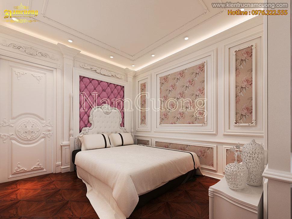 Thiết kế phòng ngủ nội thất tân cổ điển 12m2 cho con gái