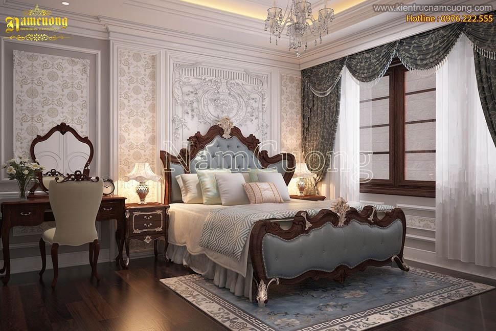 Những mẫu phòng ngủ đẹp sang trọng cho biệt thự tân cổ điển  - NTNTCD 055