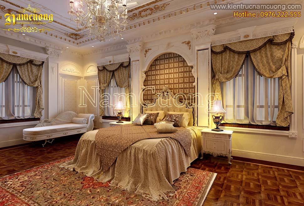 Thiết kế nội thất phòng ngủ phong cách cổ điển sang trọng tại Hà Nội - NTNCD 059