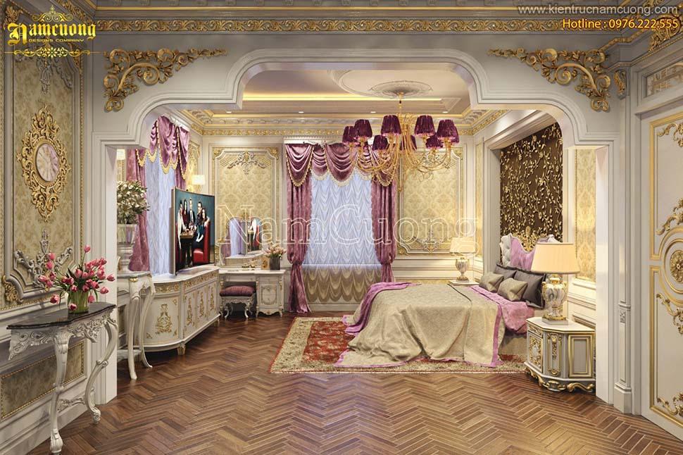 Mẫu phòng ngủ sang trọng phong cách cổ điển tại Hà Nội - NTNCD 061