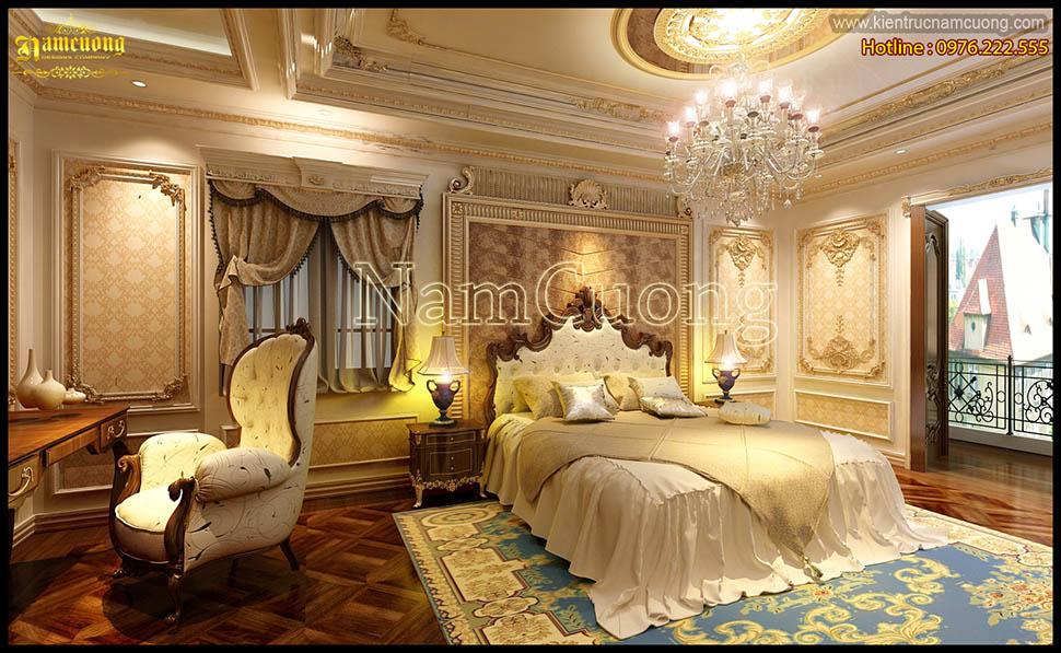 Mẫu nội thất phòng ngủ cổ điển ấn tượng tại Sài Gòn - NTNCD 062