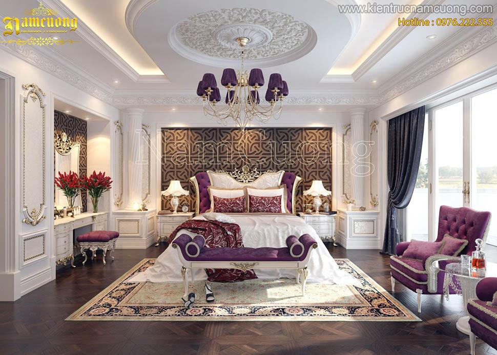 Lộng lẫy và kiêu sa với mẫu thiết kế phòng ngủ cổ điển kiểu Pháp tại Hà Nội - NTNCD 065