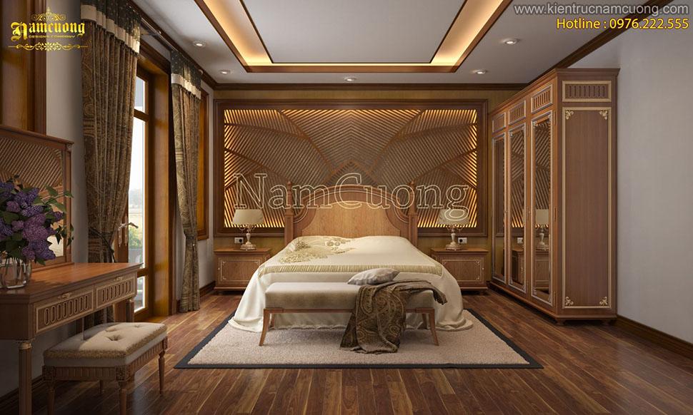 Tổng hợp những mẫu nội thất phòng ngủ tân cổ điển đẹp - NTNCD 051