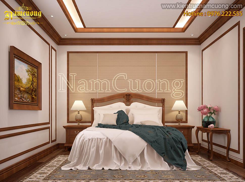 Mẫu nội thất phòng ngủ phong cách tân cổ điển đẹp tại Hà Nội - NTPNCD 058
