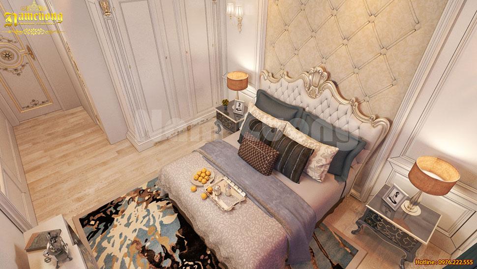 Nội thất phòng ngủ rộng 12m2 cho biệt thự tân cổ điển