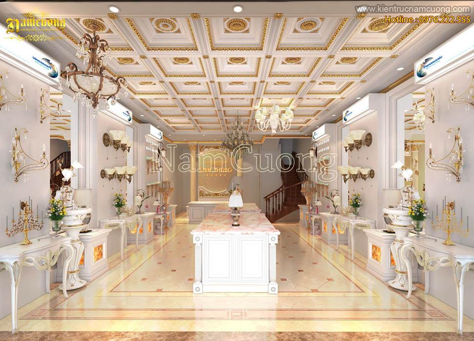 Mẫu thiết kế nội thất showroom ấn tượng phong cách cổ điển Pháp tại Nam Định - NTSRCD 001