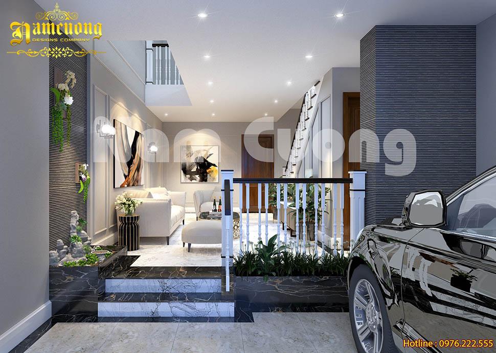 Thiết kế nội thất phòng khách cho không gian biệt thự hiện đại