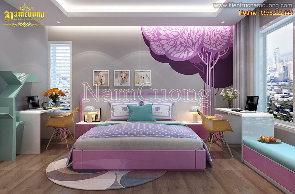 Những mẫu phòng ngủ màu hồng cho con gái đẹp ấn tượng mang phong cách hiện đại