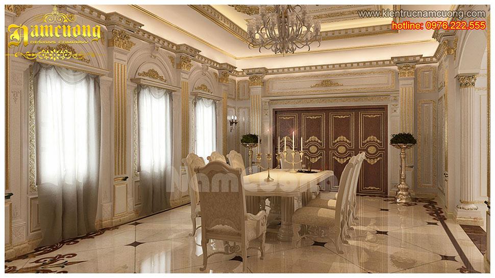 Mẫu thiết kế nội thất phòng bếp tân cổ điển đẹp tại Sài Gòn - NTBTCD 021