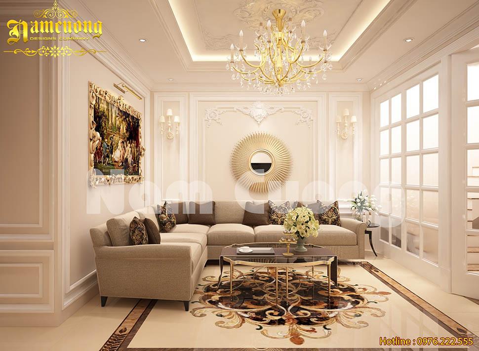 Thiết kế phòng sinh hoạt chung cho các ngôi nhà tân cổ điển