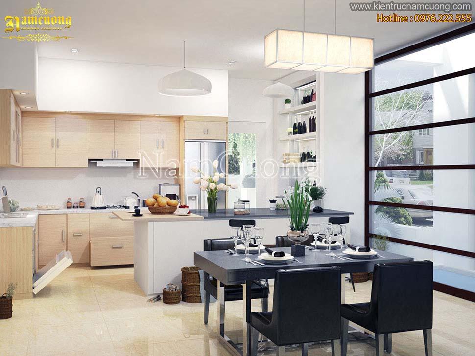 Các mẫu thiết kế phòng bếp nhà ống đẹp
