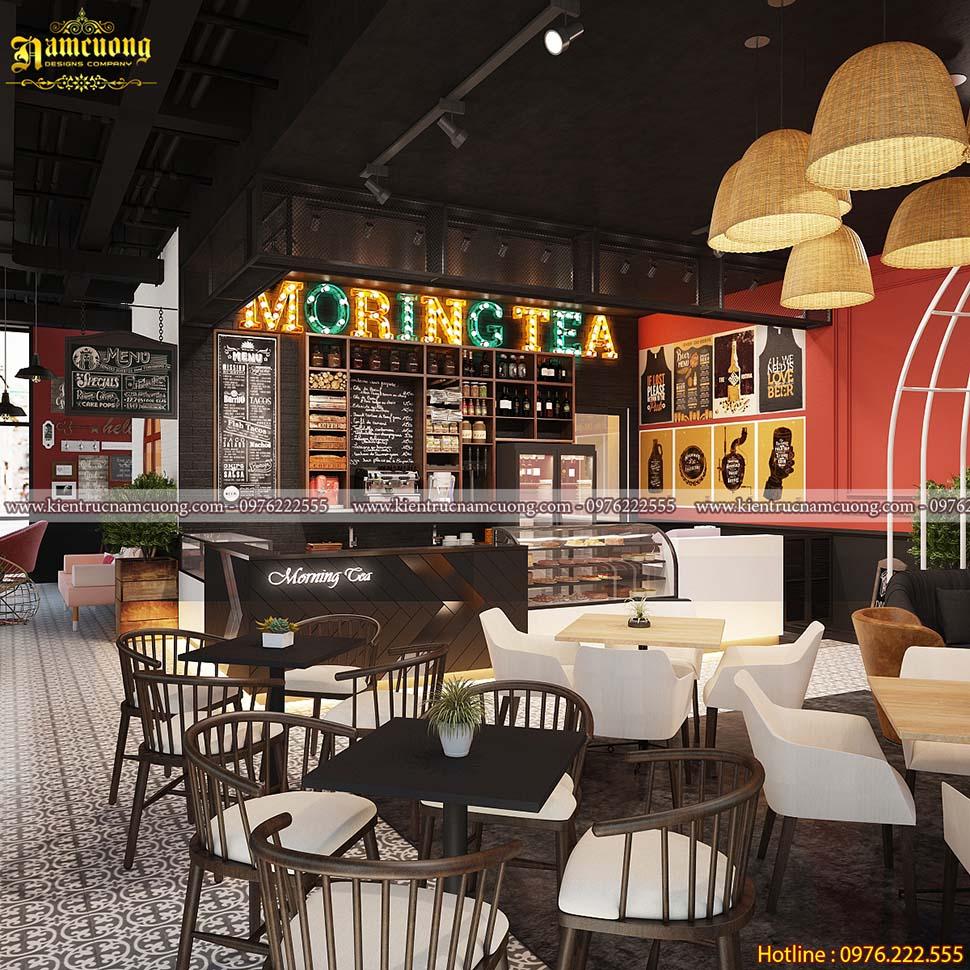 Phong cách trang trí quán cà phê hiện nay