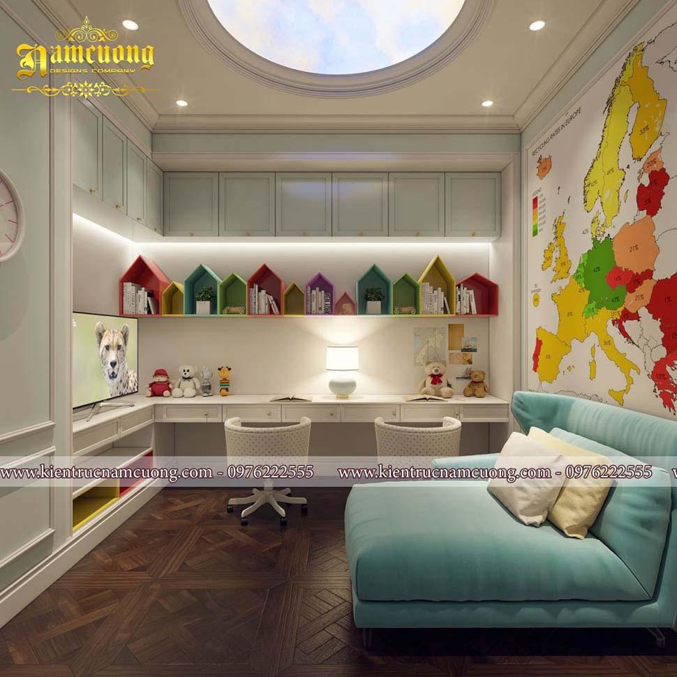 Các mẫu thiết kế phòng ngủ bé trai đẹp