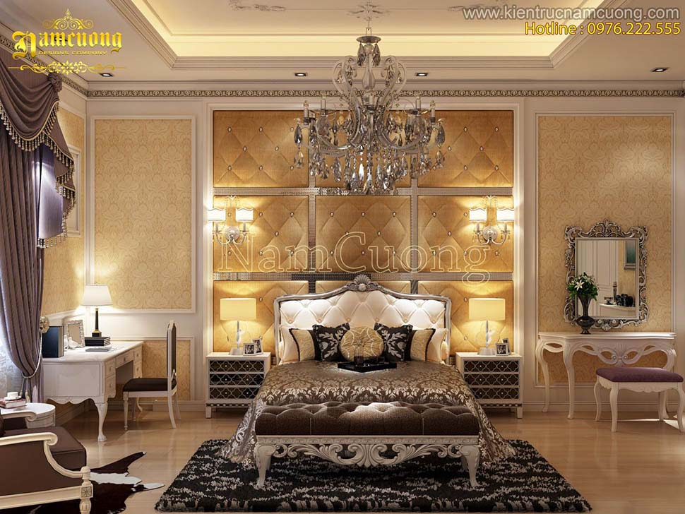 Các mẫu phòng ngủ châu âu hoành tráng