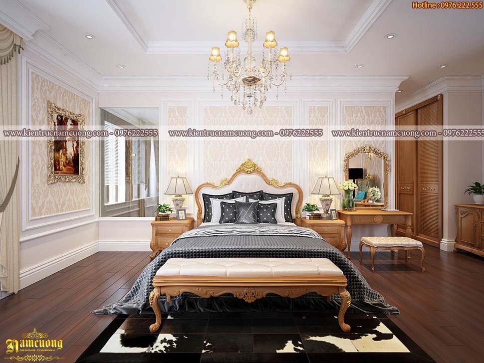 Thiết kế nội thất phòng ngủ kiểu Pháp ấn tượng