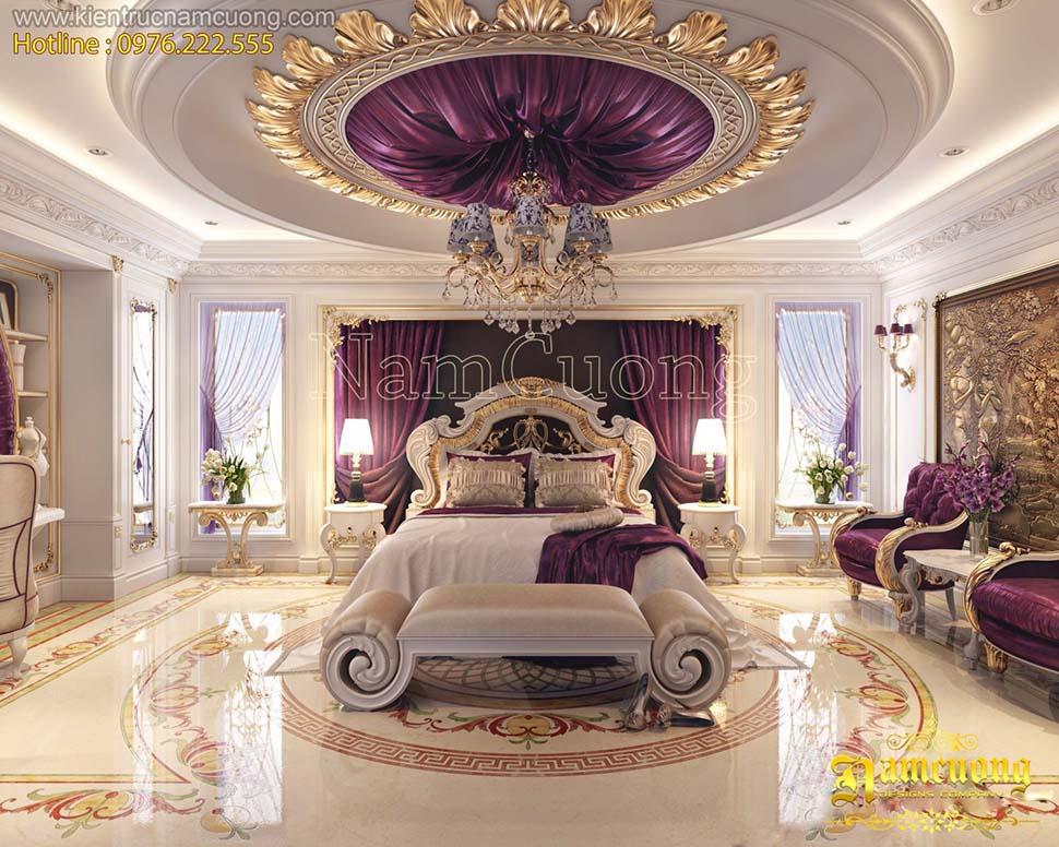 Các mẫu thiết kế phòng ngủ màu tím nổi bật