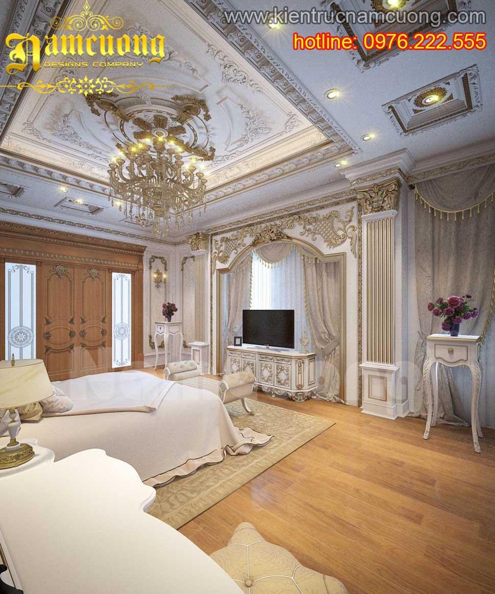 Mẫu thiết kế phòng ngủ sàn gỗ đẹp ấn tượng