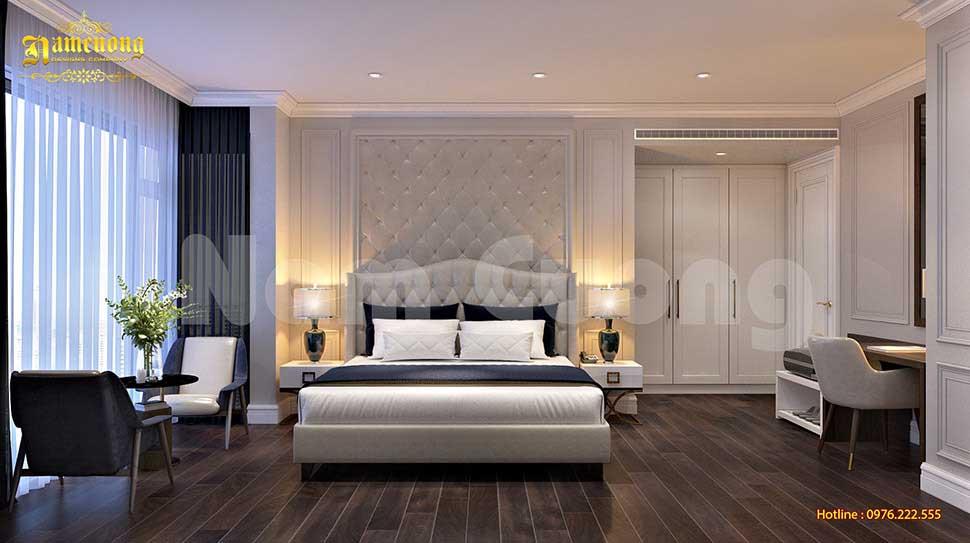 Tham khảo mẫu thiết kế phòng ngủ tân cổ điển khách sạn