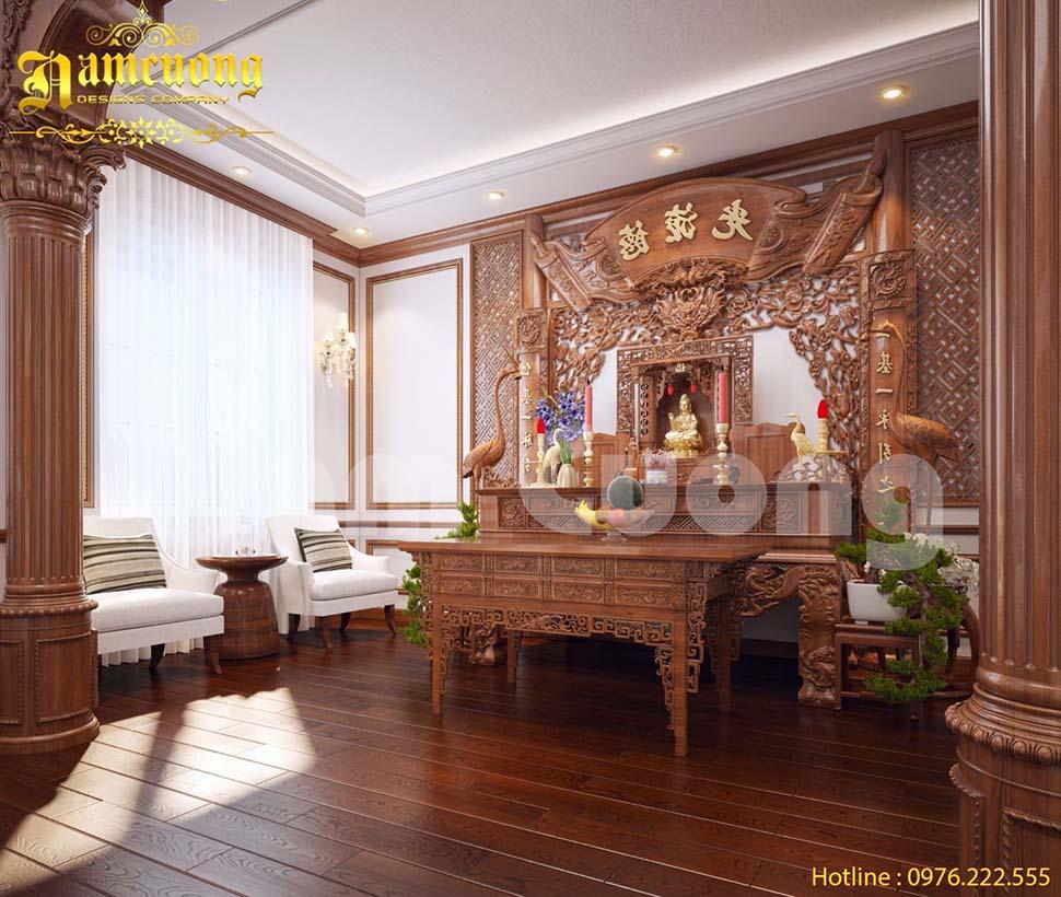 Các mẫu thiết kế phòng thờ gia đình đẹp