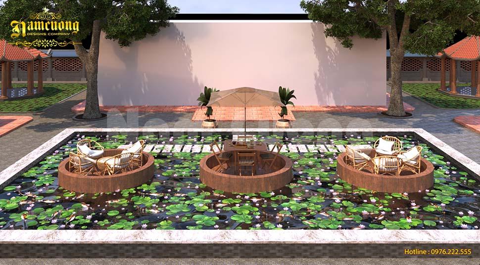 Thiết kế quán cafe không gian xanh ấn tượng