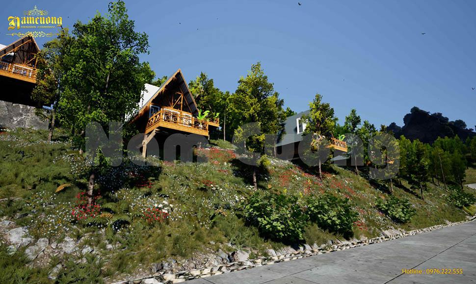 Thiết kế nhà Bungalow resort Thủy Hoàng Nguyên