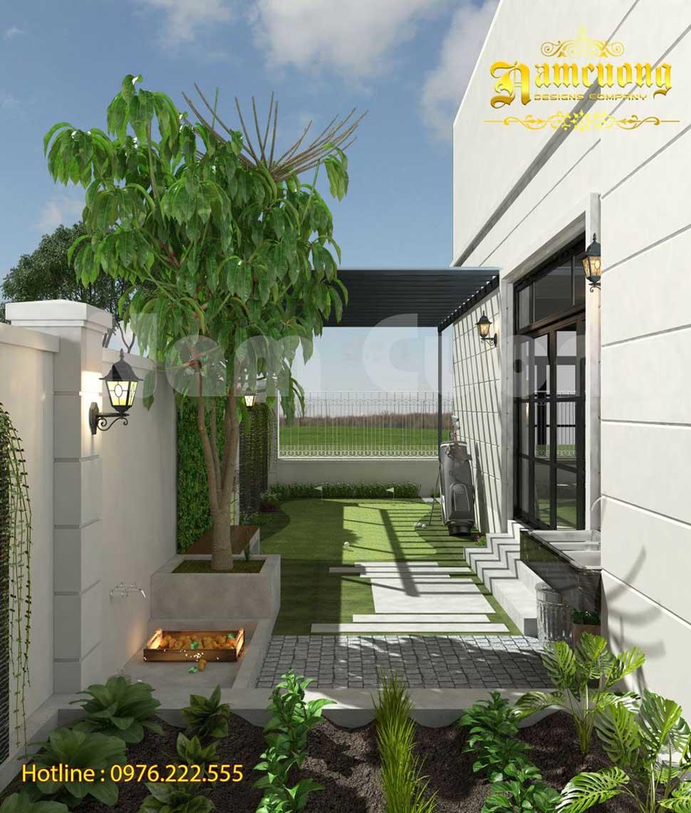 Thiết kế sân vườn biệt thự đẹp tại Hải Phòng