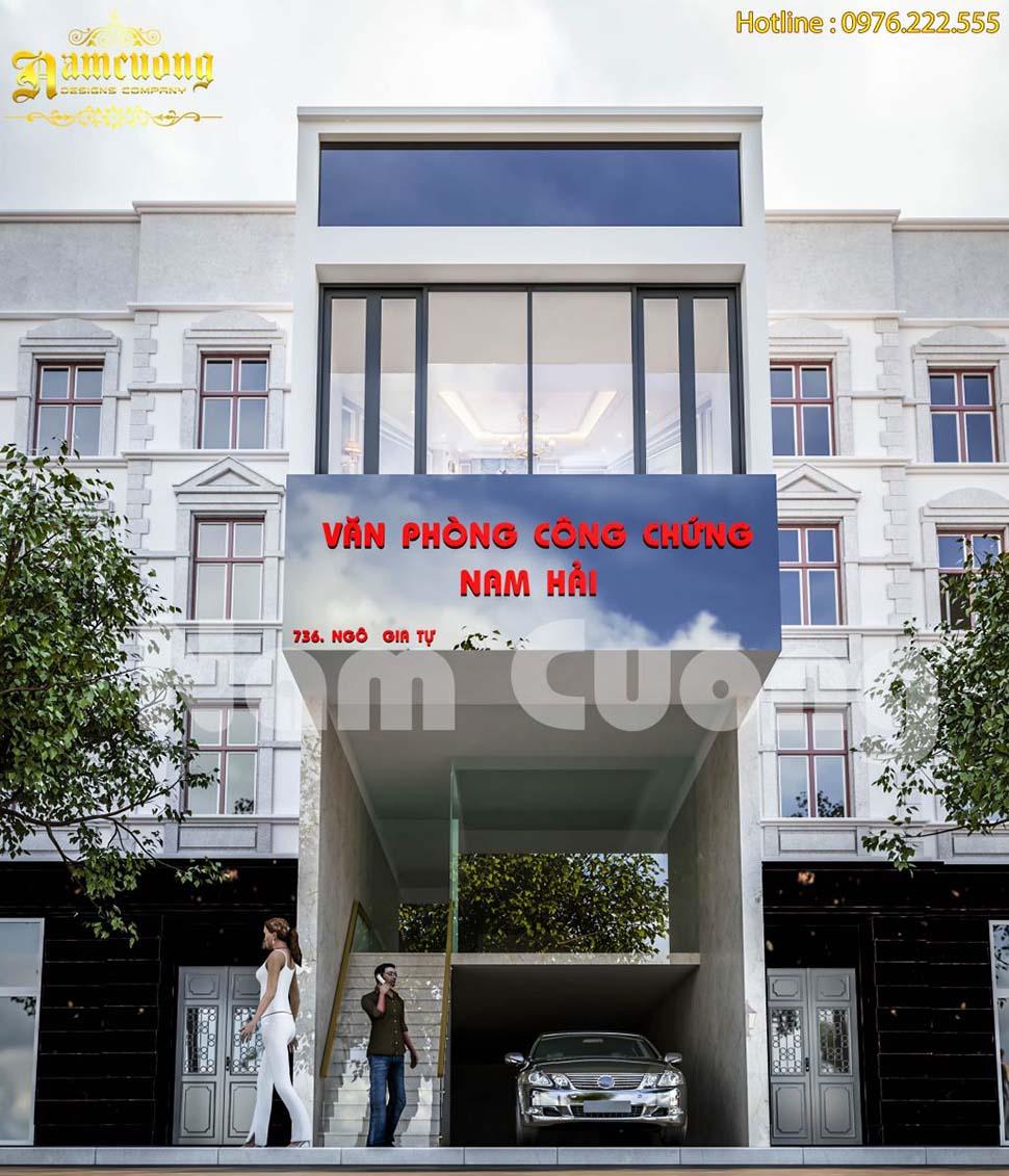 Mẫu thiết kế văn phòng công chứng kết hợp nhà ở phong cách hiện đại