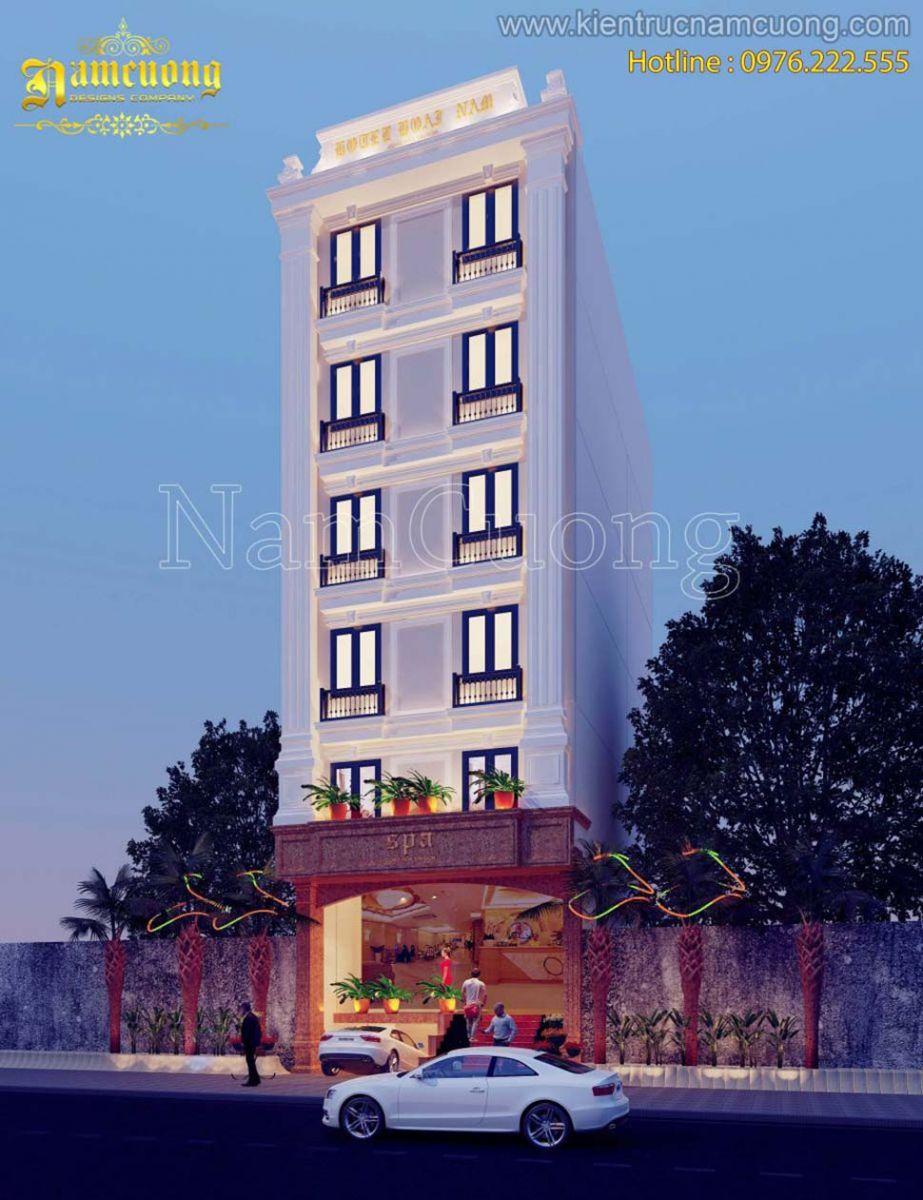mẫu thiết kế biệt thự phố 7 tầng siêu đẹp tại Sài Gòn
