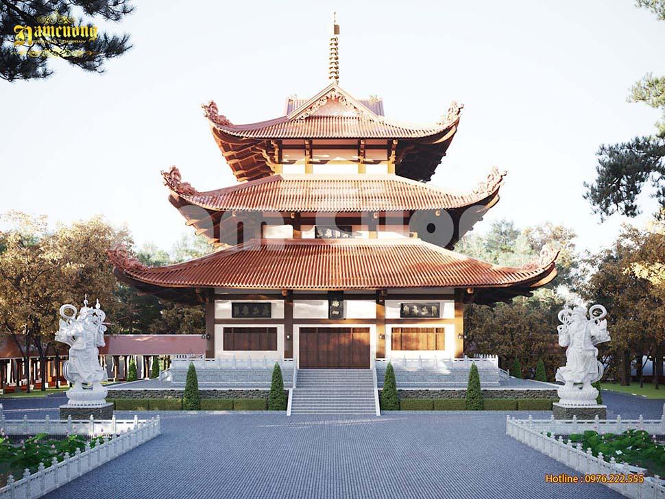 Mẫu thiết kế chùa kiểu nhật tại Bình Phước