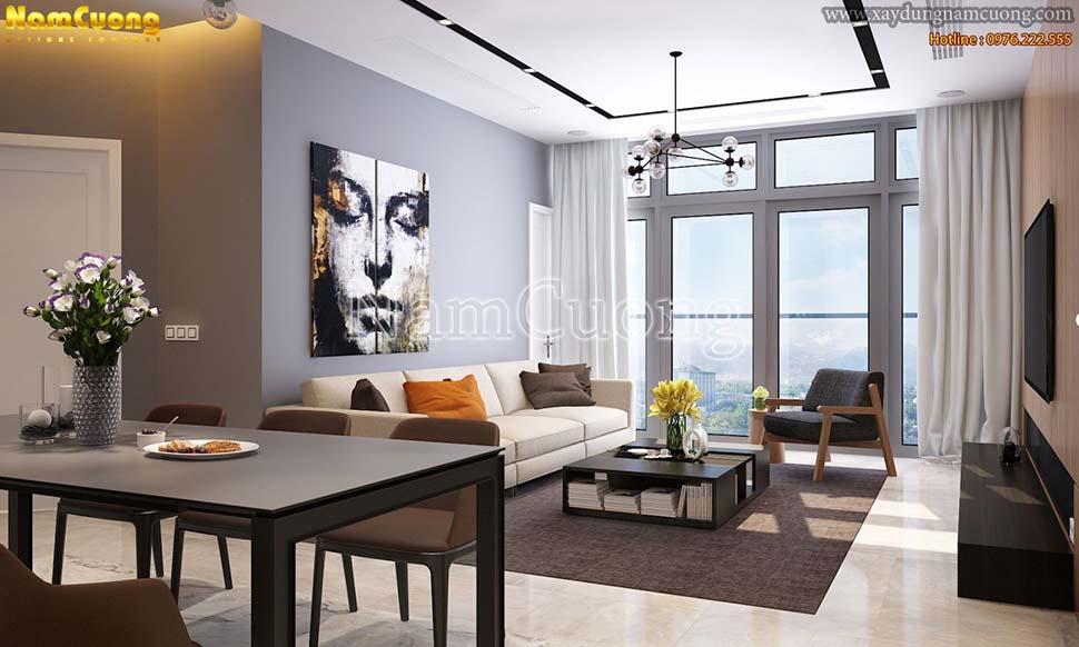 Mẫu thiết kế chung cư 3 phòng ngủ cao cấp