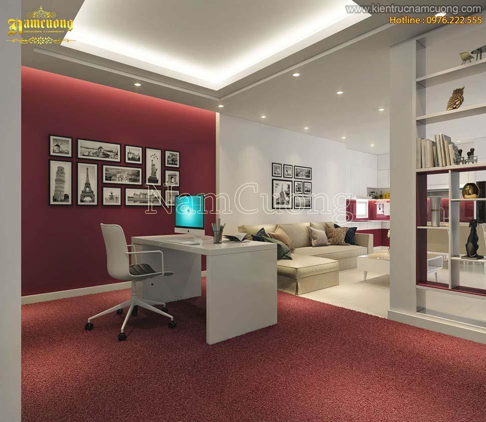 Thiết kế chung cư làm văn phòng hiện đại