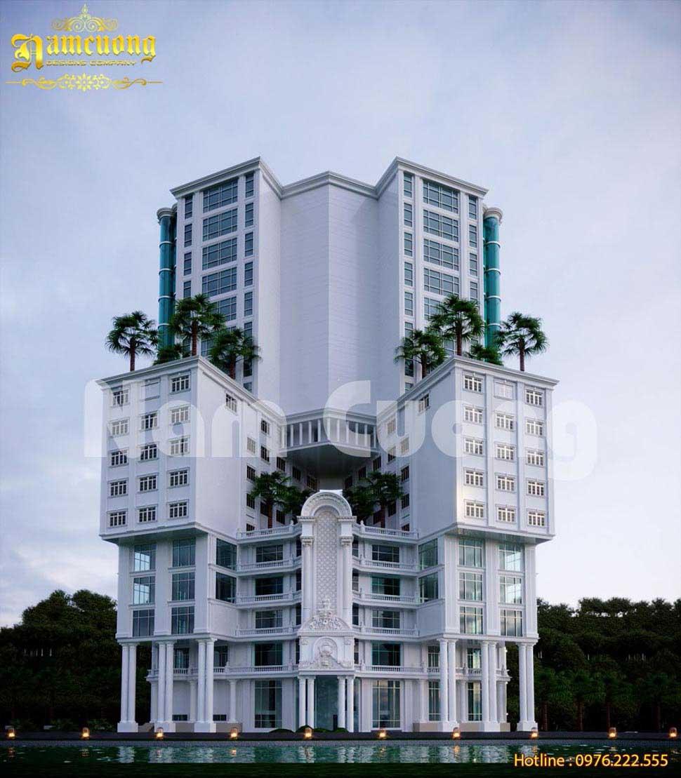 Ấn tượng với mẫu thiết kế khách sạn 5 sao 1000m2 siêu độc