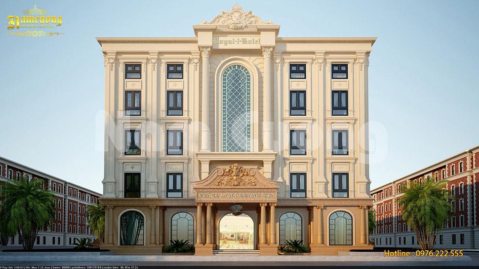 Mẫu thiết kế khách sạn cổ điển 5 tầng hút khách du lịch