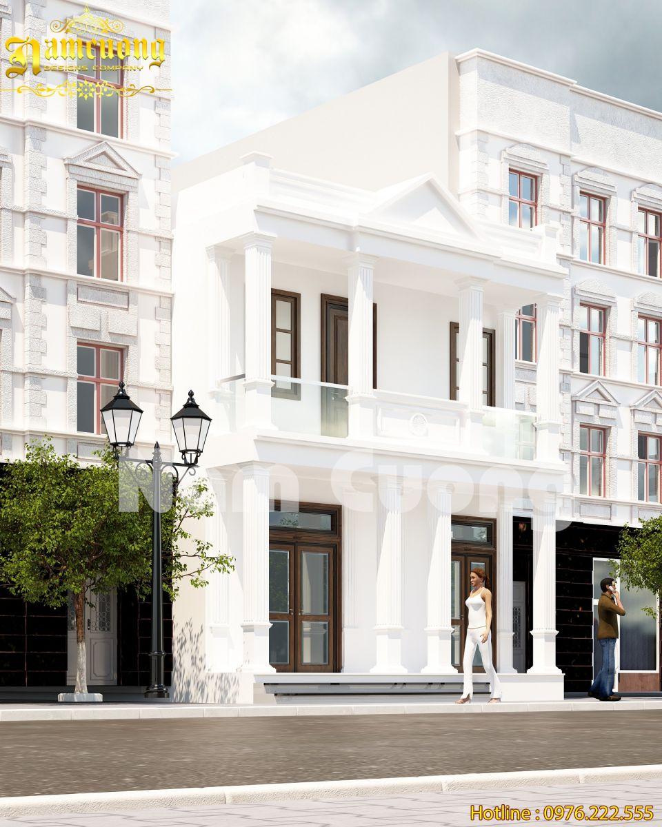 Thiết kế nhà phố 2 tầng rẻ tiết kiệm chi phí